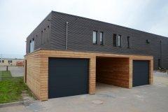 Hotové garáže na Helgolandu