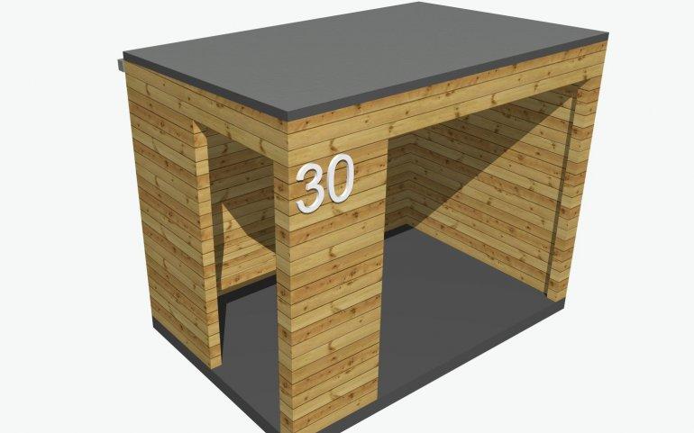 Dřevěná zastávka