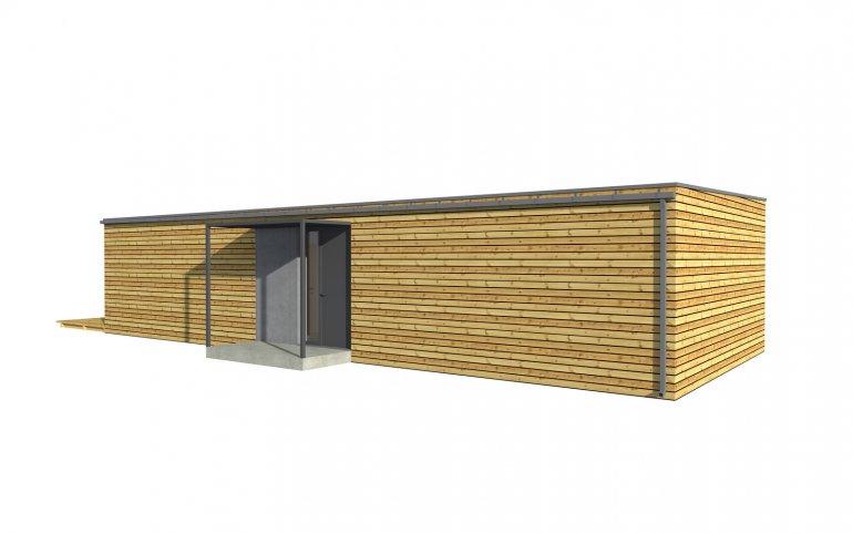 Dřevěná chata 15x6 m