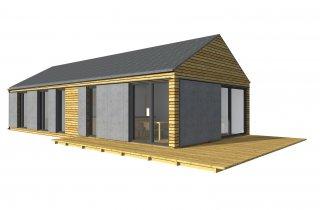 Moderní dům na úzký pozemek 15x6 m