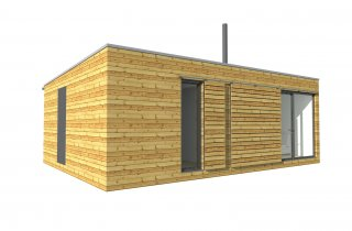 moderní dřevěná chata 9x6 m