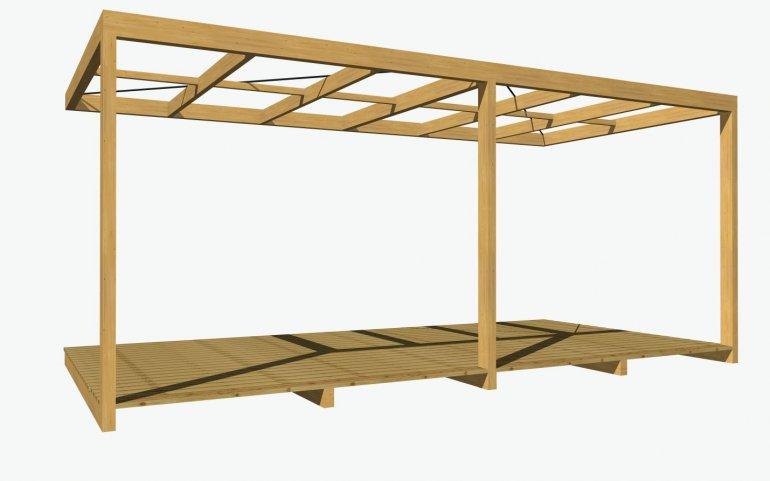 Dřevěná pergola NATURHOUSE