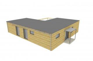 Projekt dřevostavby 15x12 m