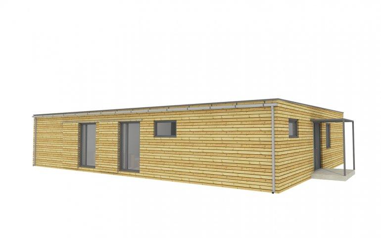 Moderní rodinný dům s plochou střechou