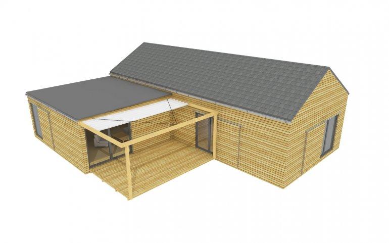 Moderní projekt rodinného domu