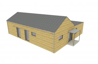 Modulový dřevěný dům 15x12 m