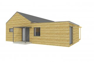 NATURHOUSE 15x12 - varianta se sedlovou střechou