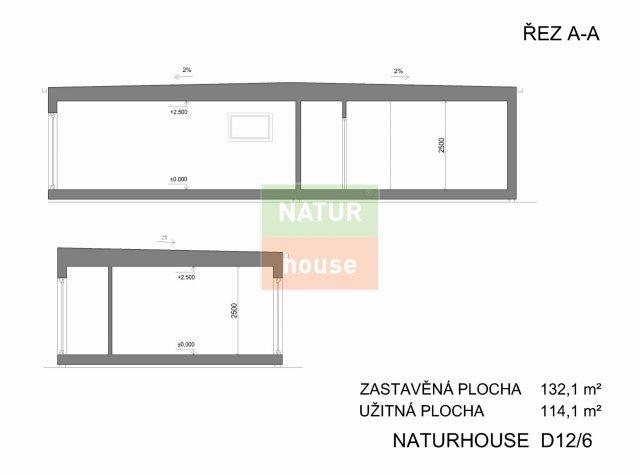 Řez domu 15x12