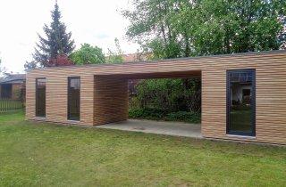Zahradní domky s přístřeškem