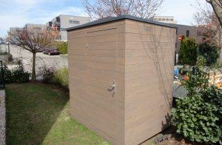 Domek na nářadí s rovnou střechou