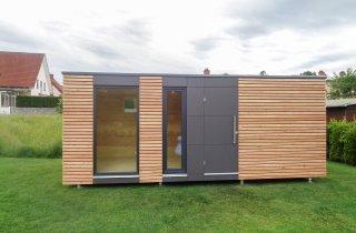 Designový zahradní domek s deskami Fundermax