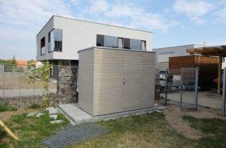 Designový zahradní domek šedý