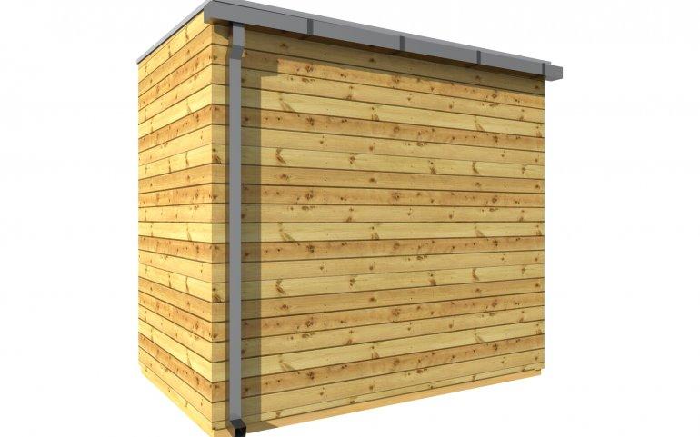 Zahradní domek s pultovou střechou S4
