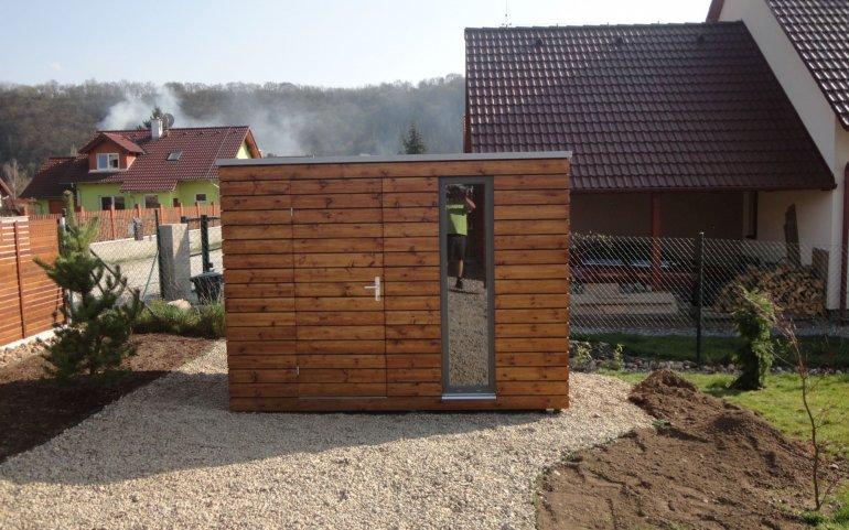Zahradní domek s rovnou střechou S5