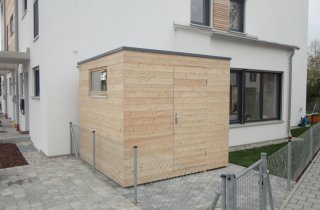 Dřevěný domek na nářadí
