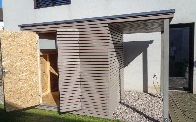 zahradn domek 2 5x2 m s p esahem praha realizace. Black Bedroom Furniture Sets. Home Design Ideas