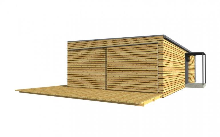 Moderní dřevostavba 12x6 m