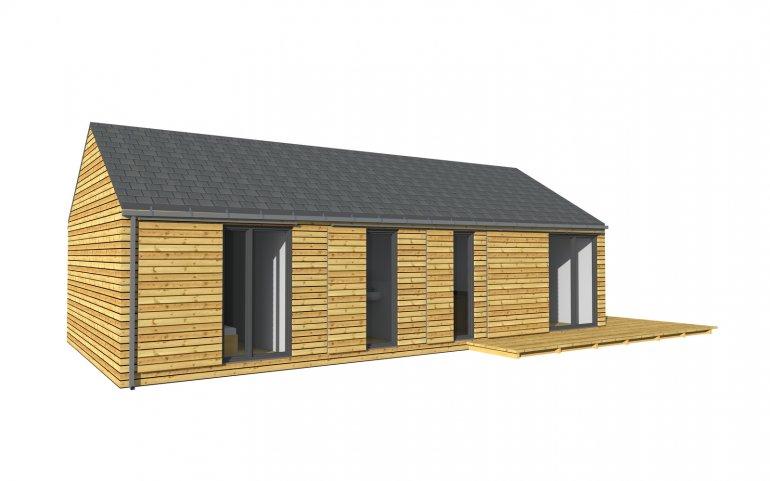 Moderní dřevostavba 12x6 m NATURHOUSE