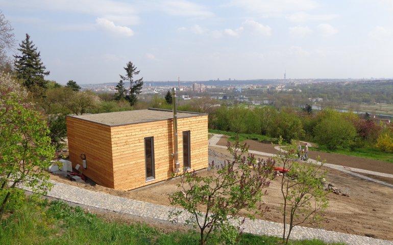 Modulový domek 6x6 m v Botanické zahradě v Praze
