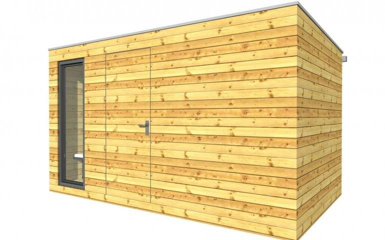 Venkovní dřevěná sauna 4x2,5 m