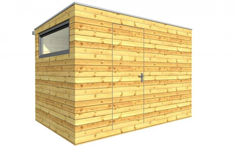 Venkovní dřevěná sauna 3,5x2 m