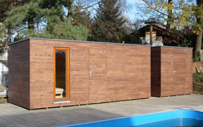 Sauna s odděleným skladem