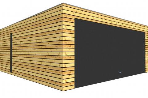 Montovaná dvojgaráž se společnými vraty 5,7 x 6,3 m