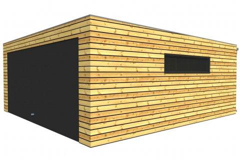 Montovaná dvojgaráž se společnými vraty 6,3 x 6,3 m