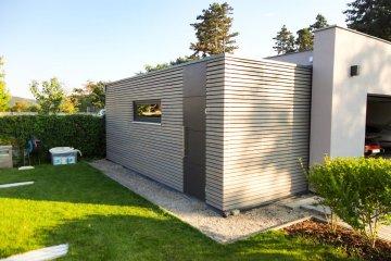 Moderní zahradní sklad S12 - 6,47 x 2,6 m - Černošice