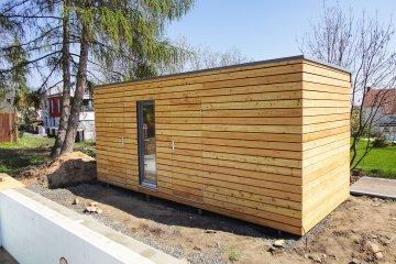 NATURHOUSE sauna se skladem W+S - 5,7 x 2,4 m - Dubí