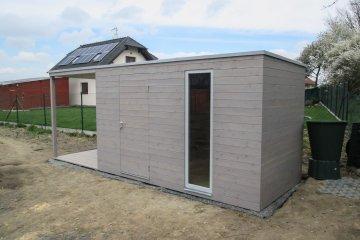 Zahradní domek NATURHOUSE s terasou a pergolou - Herink