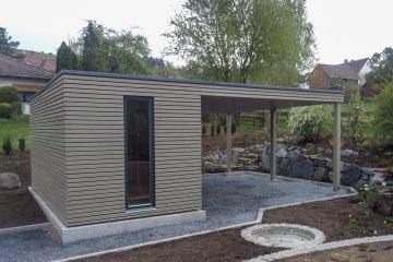 Zahradní domek 5x2,5 s přístřeškem - Rödental
