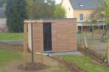Moderní zahradní domek 3x3 m - Crauthem (Lucembursko)