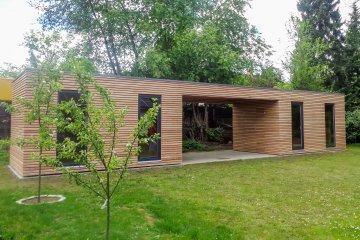 2 zahradní sklady NATURHOUSE S12 s přístřeškem - Sauerlach