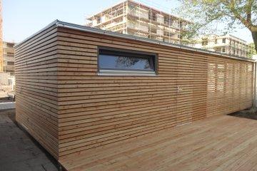 Moderní zahradní sklad NATURHOUSE S24 s parkovacím stáním - Kolín nad Rýnem