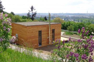 Domek NATURHOUSE pro expozici Botanické zahrady v Praze