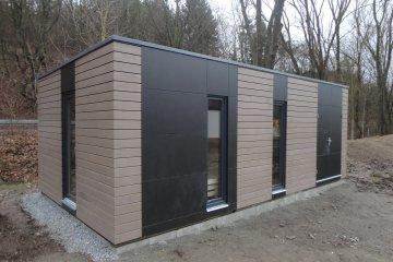 Moderní venkovní sauna + zahradní domek na nářadí NATURHOUSE - Praha