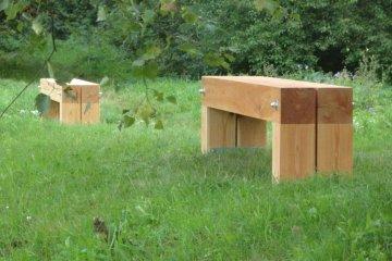 Dřevěné lavičky (2m dlouhé) - Hostěnice